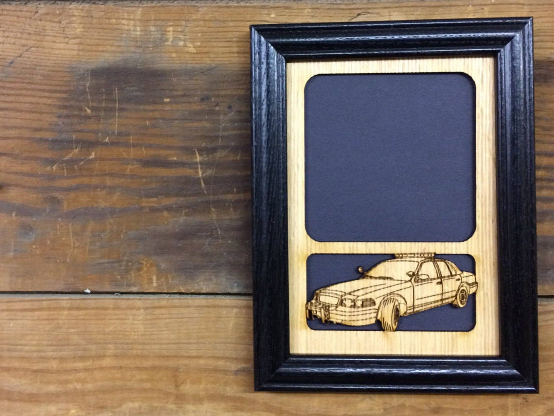 5x7 police car picture frame police decor thank you gift zoom jeuxipadfo Image collections