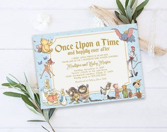 Superb Storybook Baby Shower Invitation, Storybook Invitation, Storybook Theme,  Once Upon A Time Invitation, New Chapter Baby Shower Invitation