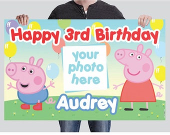 BANNER - Peppa Pig Birthday Banner