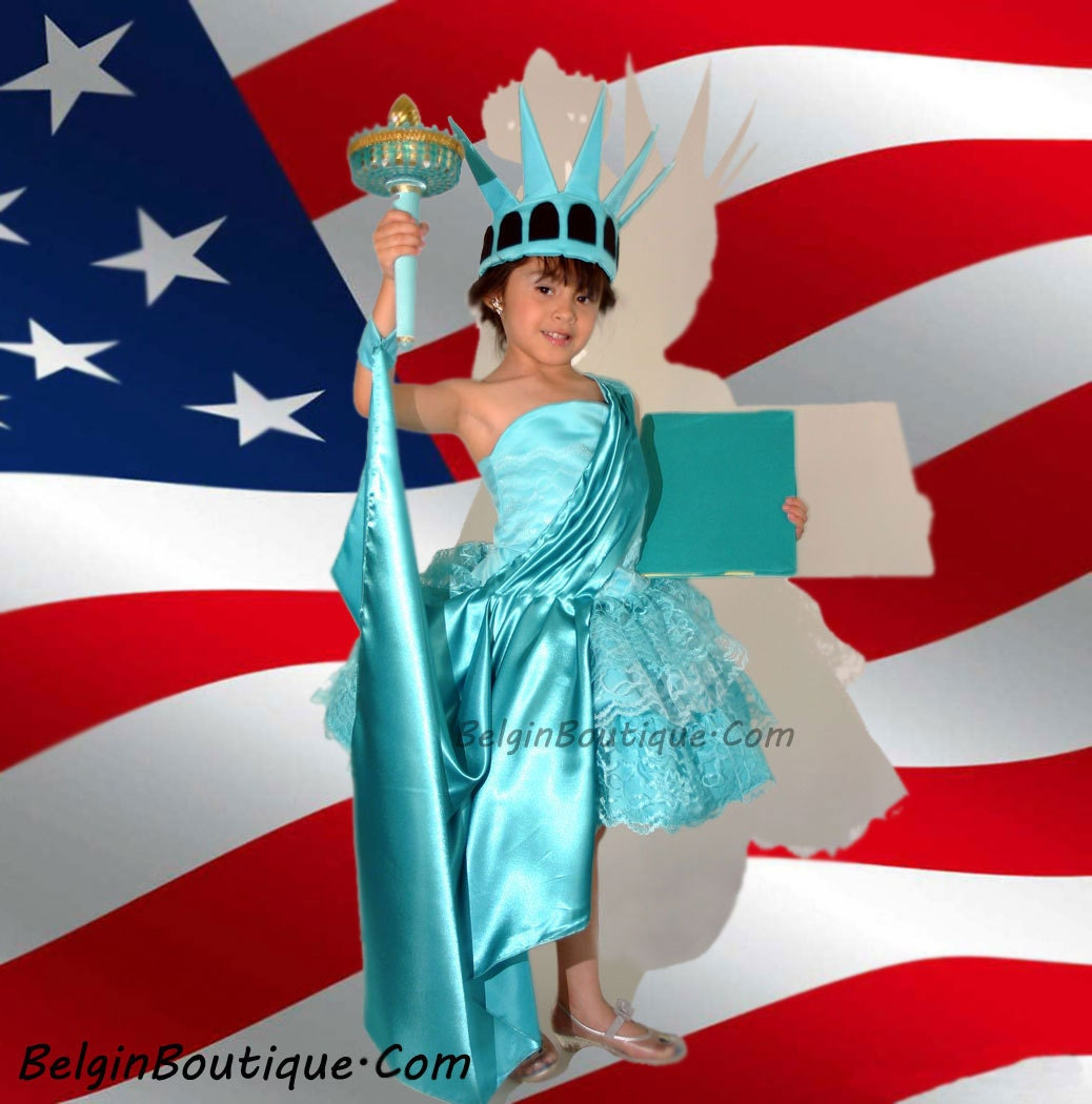 ?zoom  sc 1 st  Etsy & Pageant Patriotic OOC Costume Statue of Liberty casual wear