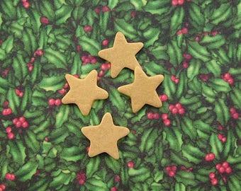 Gold Star Embellishment set of 4