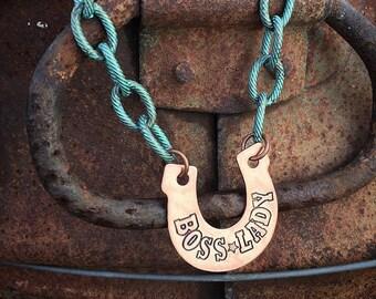 Boss Lady Horseshoe Necklace