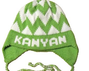Personalized Earflap Hat - Bold Chevron