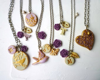 Fall Wedding Party Gifts - Fall Wedding - Purple and Plum Color Board - Jewelry for Bridesmaids - Mother of the Bride Necklace