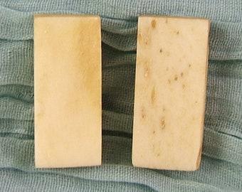 4 Blank Bone Mah Jong Beads (aka blank bone Domino beads)    (JWL)