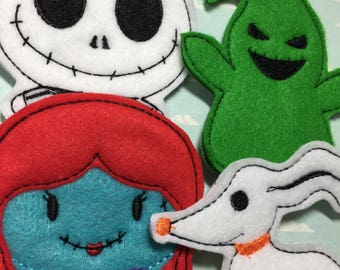 JACK & SALLY | Finger Puppets | Pretend Play | Kids Toys | Oggie Boogie | Felt Toys | Nightmare before Christmas
