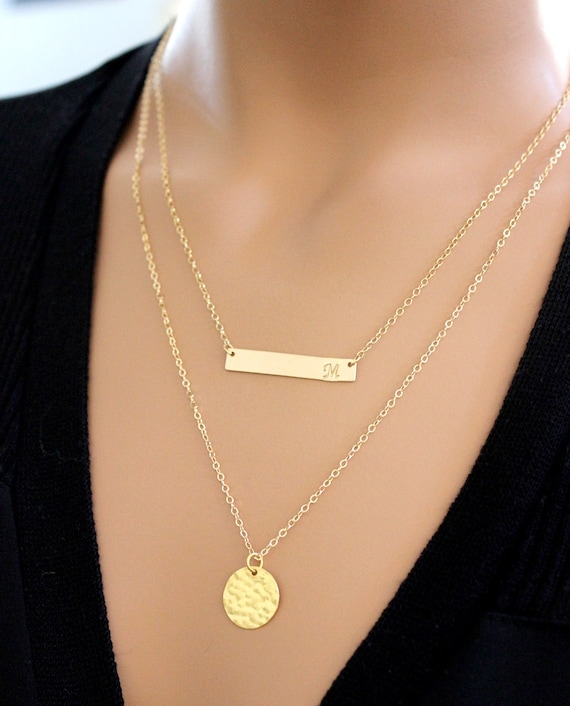Relatively BIG SALE Personalized Bar Necklace Gold Bar Necklace PD54