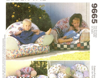 McCall's 9665 CHILD SIZE CHAIR Pattern Stuffed Armchair McCall's 614
