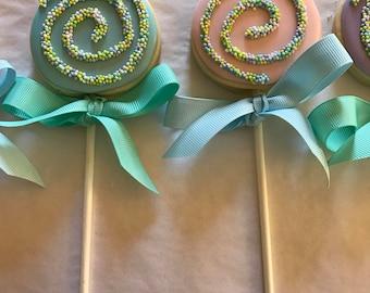 Pastel Lollipop Sugar Cookies