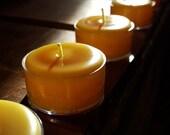 10 (plus) 1 FREE -  Pure 100 % Beeswax Tea Lights - Handmade by Pollen Arts