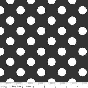 Riley Blake Designs, Medium Dots in Black (C360 110)