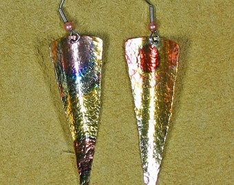copper earring artist design James Saunders artsit