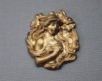 1800s Art Nouveau Woman Jewelry Mold / Goddess / Jewelry Stamping