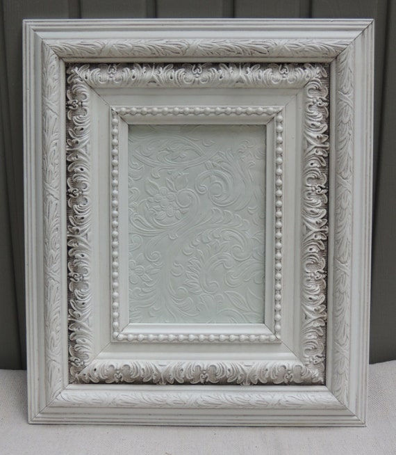 RESERVED 5 x 7 Frame / White Picture Frames / Frame with Glass ...