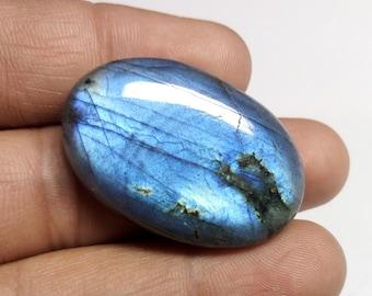 Full Blue Labradorite stone. cabochon labradorite gems Size 39x26x8 mm