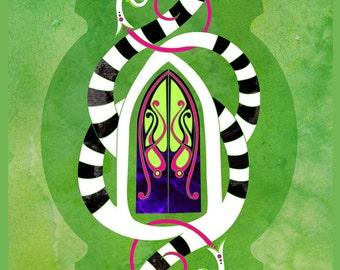 Knock Three Times - Beetlejuice Inspired illustration