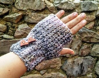 Winter crochet , fingerless gloves , arm warmers , Christmas gift , free shipping