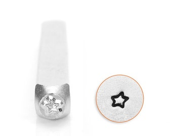 Star Metal Stamp ImpressArt Steel Stamping Tool for Hand Stamping Jewelry and Leather - AA028