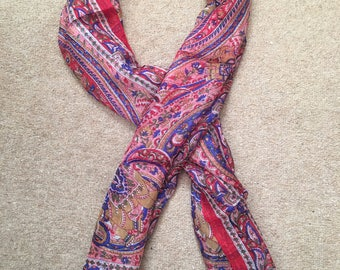Women's Fashion Print Long Scarves ,Silk Floral Neck Scarf, Christmas gIFT