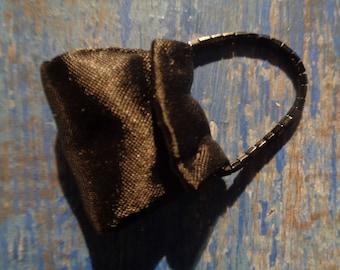 Silkstone/ Barbie/ Evening bag in black satin/ Years 90/ Vintage/