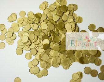 Metallic gold TISSUE PAPER CONFETTI/ wedding confetti / table confetti/confetti toss/ ballon confetti/ Bridal Shower/ Baby Shower/ Weddings