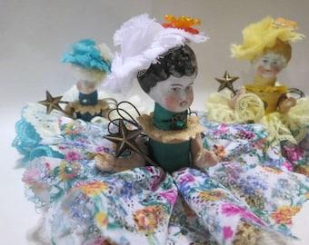 Poupée d'Art ASSEMBLAGE ange «Printemps» Assemblage Art Doll, poupée ancienne pièces, Style Vintage