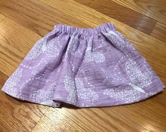 2-3T Toddler Skirt - Purple Butterflies (size approx.)
