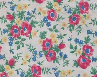 Intact Vintage Feedsack Floral