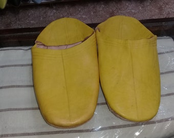 nutural leather Slippers