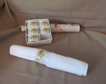 Lefton Napkin Rings Set of6 No 01895