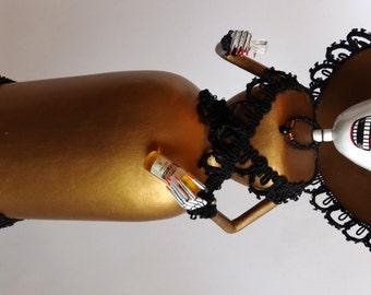 Gold Catrina, Handmade Dia de Los Muertos Day of the Dead