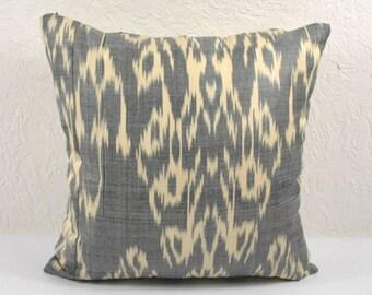 Ikat Pillow, Hand Woven Ikat Pillow Cover  IP94 (a535-1aa2), Ikat throw pillows, Designer pillows, Decorative pillows, Accent pillows