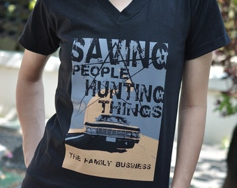 saving people hunting things the family business t-shirt short sleeve