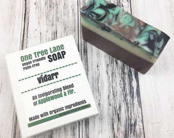 Organic Applewood & Fir  Soap • Víðarr Palm Free Masculine Soap • Vegan •  Fresh Invigorating Soap •