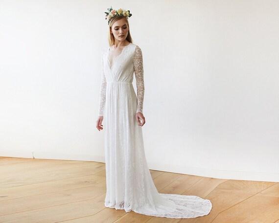 Elfenbein Zug Hochzeit Kleid Elfenbein Hochzeitskleid Wrap