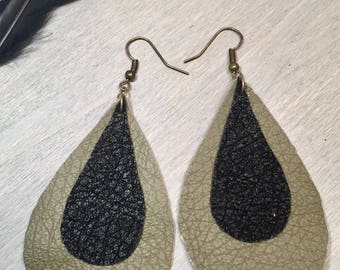 Joanna Gaines Statement Teardrop Earrings, Leather Earrings, Teardrop Earrings, Dangle Earrings, Valentines day gifts for mom