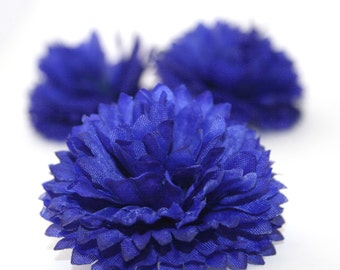 3 Royal Blue Cornflower - Artificial Flowers, Silk Flower - PRE-ORDER