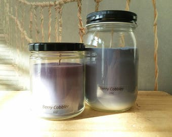 Berry Cobbler - Soy Candle - Hand Poured Scented Natural Soy Wax - available sizes, 6 oz and 11 oz - Handmade in Baltimore MD