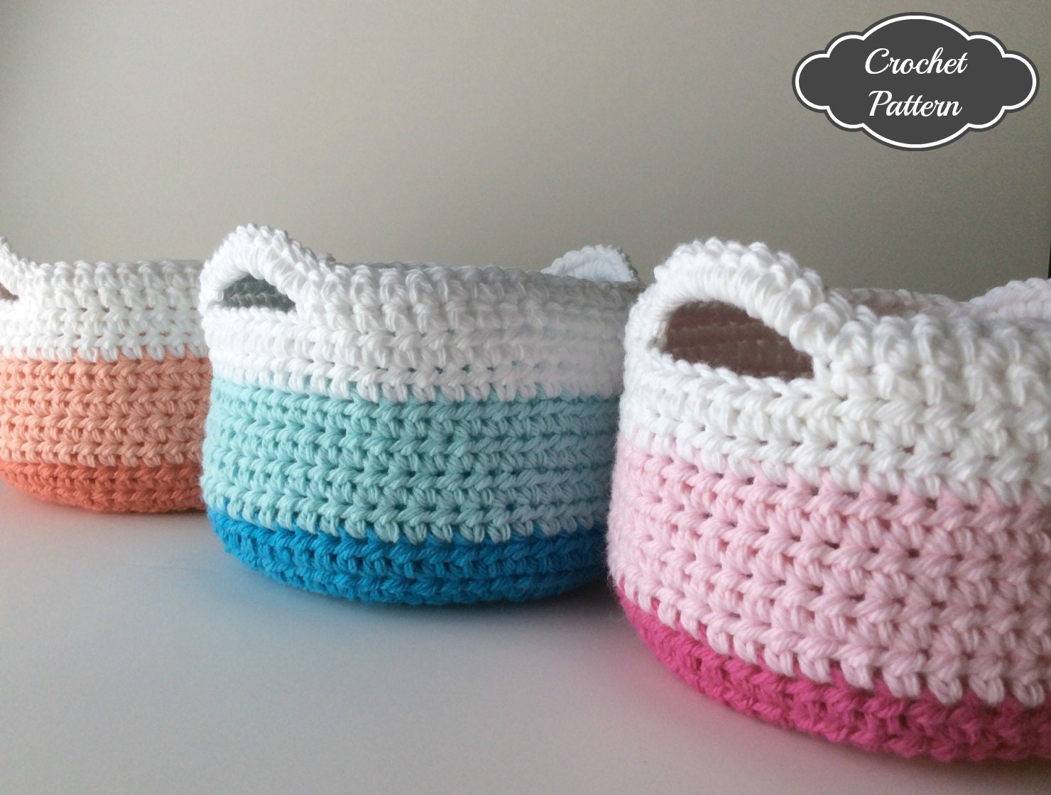 ?zoom & CROCHET PATTERN Crochet Basket Pattern Small Crochet