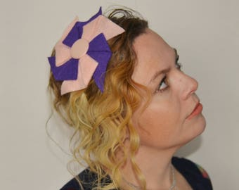 Purple and Pink Pinwheel Headband for women - fun and colorful hair accessories - headbands for girls