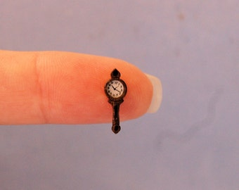 1/4 inch scale miniature-Long Hanging Wall Clock
