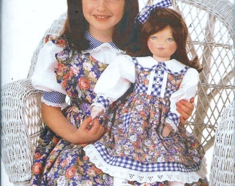 """Butterick 6372 Clothes Ruffle Dress and Bloomers For 23"""" Doll Sewing Pattern UNCUT Rachel Wallis"""