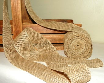 4 PACK of 2 1/2 Inch Wide Rolled Edged Burlap Ribbon, 40 Yards, 120 Feet