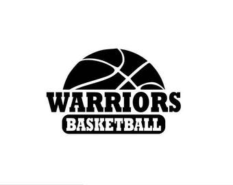 Warriors svg, Warriors Basketball svg, Basketball svg, SVG, DXF, EPS, Silhouette Studio, Cut Files, Digital Cut Files, Cricut