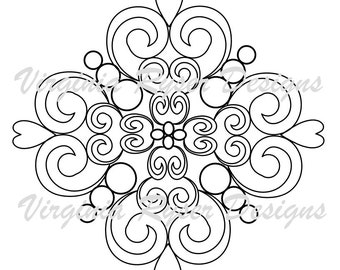 Digital coloring page of swirls