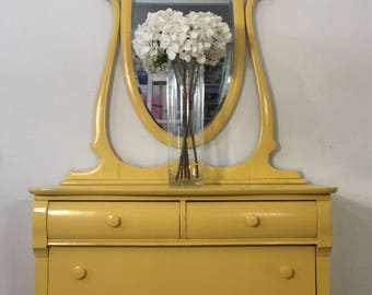 Jean Harlow Dresser with mirror
