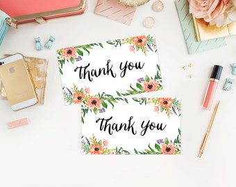 Instant Download - Boho Thank You Tags