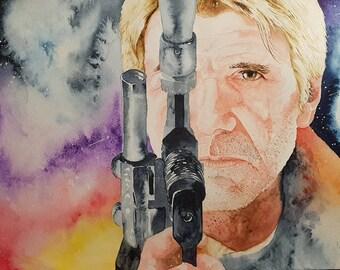 Han Solo - Star Wars Fan Art - original artwork