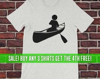 Canoeing T-Shirt, Canoe Shirt, Unisex T-Shirt, Women's Canoeing Shirt, Men's Canoeing Shirt
