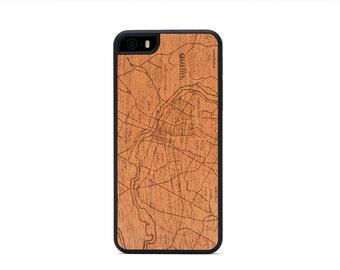 Austin Map Wood iPhone 6 6s Case - Mahogany